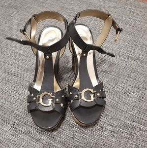 💗Guess💗 Black Wedge Sandals